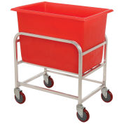 "Winholt 30-6-A/RD Aluminum Bulk Mover 6 Bushel with Red Tub, 33""L x 24""W x 36""H"