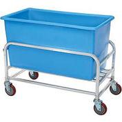 """Aluminum Bulk Mover 8 Bushel 30-8-AL/BL with Blue Tub38-1/2""""L x 22""""W x 32""""H"""