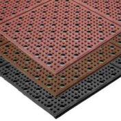 NoTrax Multi-Mat II Reversible Drainage Mat, 4' x 30', Black