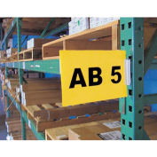"AIGNER Warehouse Aisle Pallet Rack Sign Kit - 5-1/2x8-1/2"" - White"