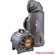 "Euramco Safety EF7015 8"" Intrinsically Safe Blower With Canister and 15' Duct 1/3 HP 980 CFM"