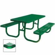 "Extra Heavy Duty Table, Diamond 72""W x 70""D, Green"