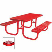 "Extra Heavy Duty Table, Diamond 72""W x 70""D, Red"