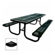 """Extra Heavy Duty Table, Perforated 72""""W x 70""""D, Black"""