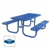 "8' Extra Heavy Duty Picnic Table, Diamond, 96""W x 70""D, Blue"