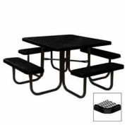 "46"" Square Table, Diamond, Coated Steel, 78""W x 78""D, Black"