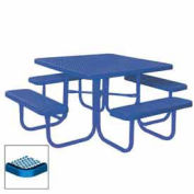 "46"" Square Table, Diamond, Coated Steel, 78""W x 78""D, Blue"