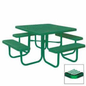"46"" Square Table, Diamond, Coated Steel, 78""W x 78""D, Green"