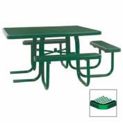 "46"" ADA Square Table, 3-Seat, Diamond 78""W x 72""D, Green"