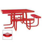 "46"" ADA Square Table, 3-Seat, Diamond 78""W x 72""D, Red"