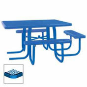 "46"" ADA Square Table, 3-Seat, Diamond 78""W x 72""D, Blue"