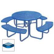 "46"" Round Table, Diamond, 80""W x 80""D, Coated Steel, Blue"