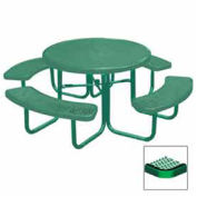 "46"" Round Table, Diamond, 80""W x 80""D, Coated Steel, Green"