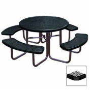 "46"" Round Table, Diamond, 80""W x 80""D, Coated Steel, Black"