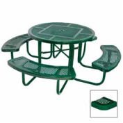 """46"""" Round Table, Perforated, 80""""W x 80""""D, Coated Steel, Green"""