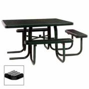 "46"" ADA Square Table, 3-Seat, Diamond 78""W x 72""D, Black"