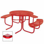 "46"" ADA Round Table, 3-Seat, Diamond 80""W x 63""D, Red"