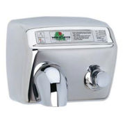 World Dryer Pushbutton Hand Dryer, DA5-972, 115V, Bright SS