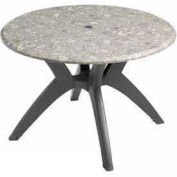 "42"" Round Outdoor Table Top Only with Umbrella Hole - Tokyo Stone"