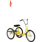 Medium Duty Industrial Tricycle, 3 Speed, Coaster Brake, Yellow