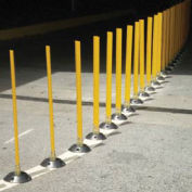 """Vestil VGLT-16-2F-Y Surface Mount Flexible Stake 24"""" H Yellow"""