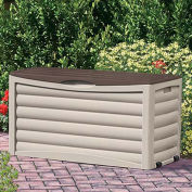 Suncast Deck Box with Rollers, 83 Gallon