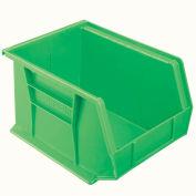 """Akro-Mils Plastic Stacking Bin 30239, 8-1/4""""W x 10-3/4""""D x 7""""H, Green - Pkg Qty 6"""