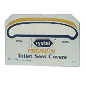 Premium 1/2 Fold Toilet Seat Covers, 250 Covers/Sleeve, 10/Case