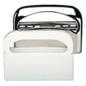 "Boardwalk Toilet Seat Cover Dispenser, 16"" x 3"" x 11-1/2"", Chrome"