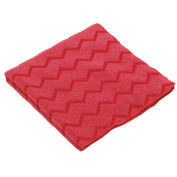 "HYGEN Microfiber Cleaning Cloths 12"" x 12"", Red 12/Case"
