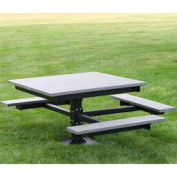 ADA T-Table, Recycled Plastic, 4 ft, Gray