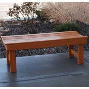 4' Garden Bench, Recycled Plastic, Cedar