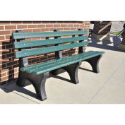 4' Central Park Bench, Recycled Plastic, Cedar