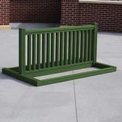 Recycled Plastic Bike Rack, 6-10 Bikes, Green
