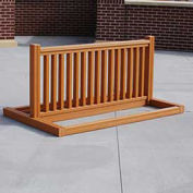 Recycled Plastic Bike Rack, 6-10 Bikes, Cedar