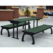 Heritage Picnic Table, Recycled Plastic, 6 ft, Black & Green
