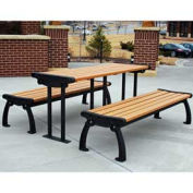 Heritage Picnic Table, Recycled Plastic, 6 ft, Black & Cedar