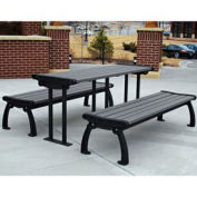 Heritage Picnic Table, Recycled Plastic, 6 ft, Black & Gray