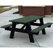 6' A-Frame Table, Recycled Plastic, Green