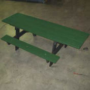 6' ADA A-Frame Table, Recycled Plastic, Green
