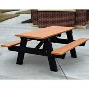 6' A-Frame Table, Recycled Plastic, Cedar