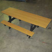 6' ADA A-Frame Table, Recycled Plastic, Cedar