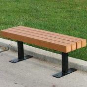 Trailside 4' Flat Bench, Recycled Plastic, Cedar