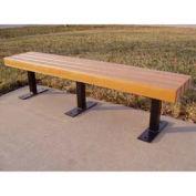 Trailside 6' Flat Bench, Recycled Plastic, Cedar