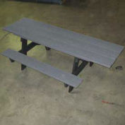 "6"" ADA A-Frame Table, Recycled Plastic, Gray"
