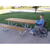 6' ADA Galvanized Frame Picnic Table, Recycled Plastic, Cedar