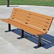 6' Contour Bench, Recycled Plastic, Cedar