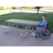 6' ADA Galvanized Frame Picnic Table, Recycled Plastic, Gray
