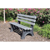 4' Central Park Bench, Recycled Plastic, Gray