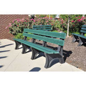 4' Colonial Bench, Recycled Plastic, Green